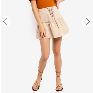 NEW • Free People • Positano Lace Up Mini Skirt 2